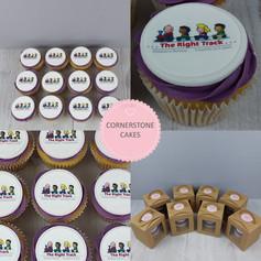Individual Corporate Cupcakes