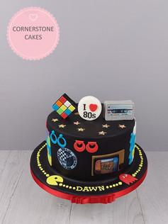 I Love the 80s Cake