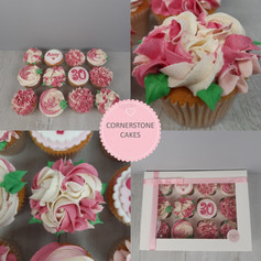 Personalised Floral Cupcakes