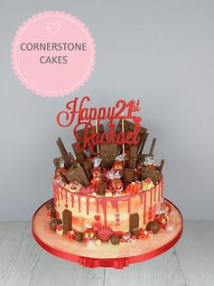 Watercolour Chocolate Explosion Cake