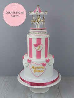 Tiered Carousel Cake