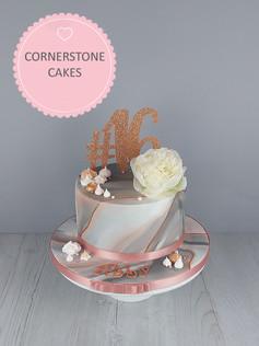 Rose Gold & Marble Cake.