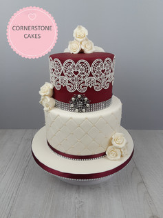 His & Her's Wedding Cake