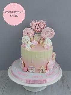 Meringue Heart & Sweetie Cake