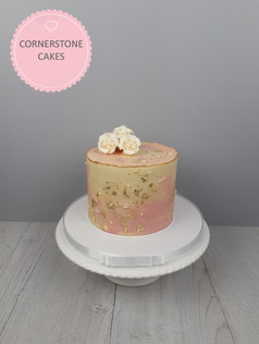 Rose & Gold Leaf Cake
