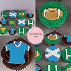 Rugby Cupcakes