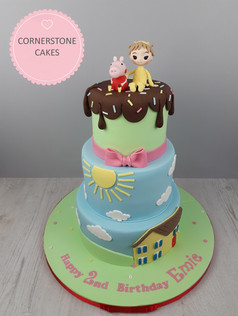 Tiered Character Inspired Cake