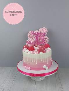 Ombre Meringue Pop & Kisses Cake