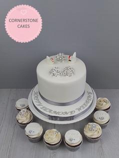 Wedding Anniversary Cake & Cupcakes
