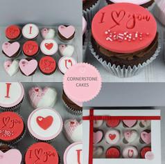 Personalised Valentine Cupcakess