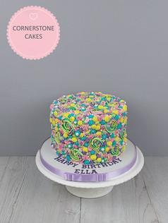 Rainbow Swirls Cake