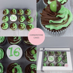Piped Celebration Cupcakes