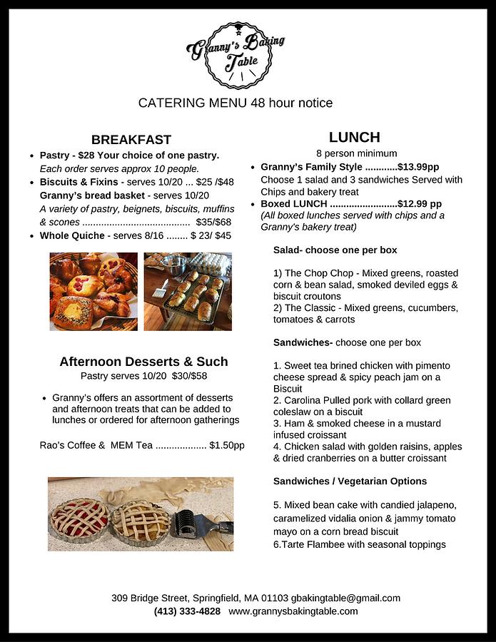 GRANNY'S  catering menu.png