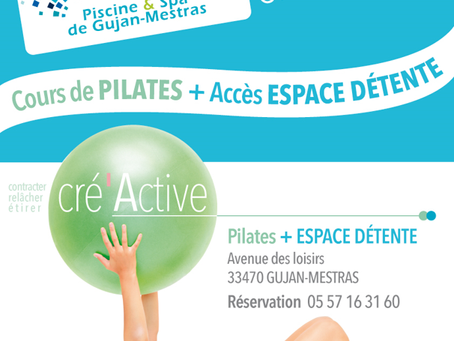 Nouveau : cours de Pilates et accès espace détente à la Piscine & Spa de Gujan-Mestras