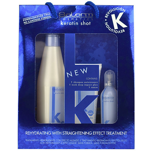 Pack de mantenimiento Keratin Shot Salerm Cosmetics (3 prod)