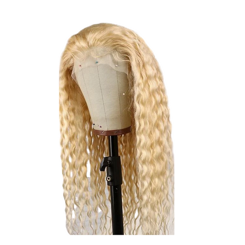 Blonde Curly Virgin Lace Front