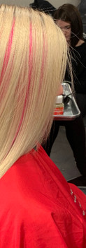 Pink Highlights Using Microbeads