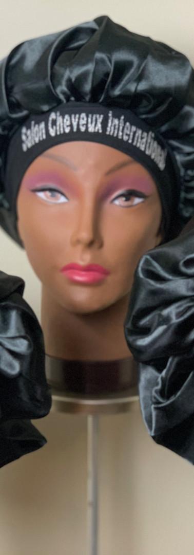 SCI Silk Black Jumbo Bonnets