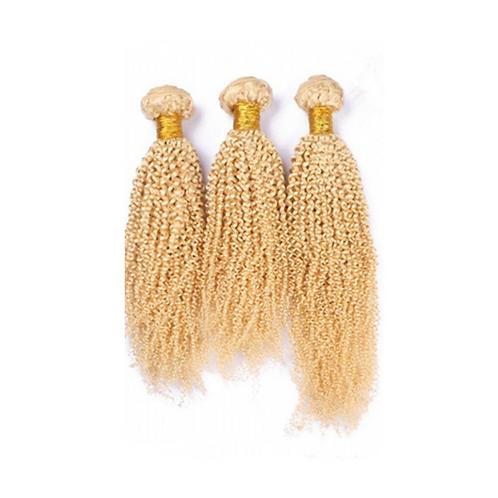Blonde Kinky Curly Indian Virgin Set