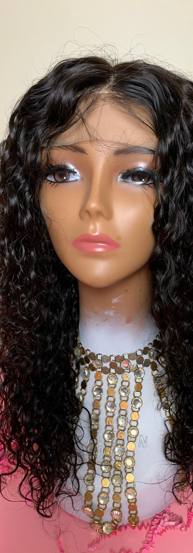 Indian Curly Frontal Lace Wig