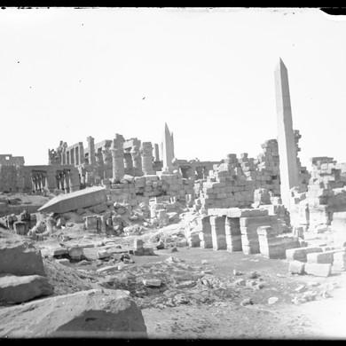 Plaque de verre / tirage d'après plaque de verre : Karnak, 20 mars 1893.