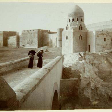 Tirage d'après plaque de verre : Le Caire, 20 janvier 1893.