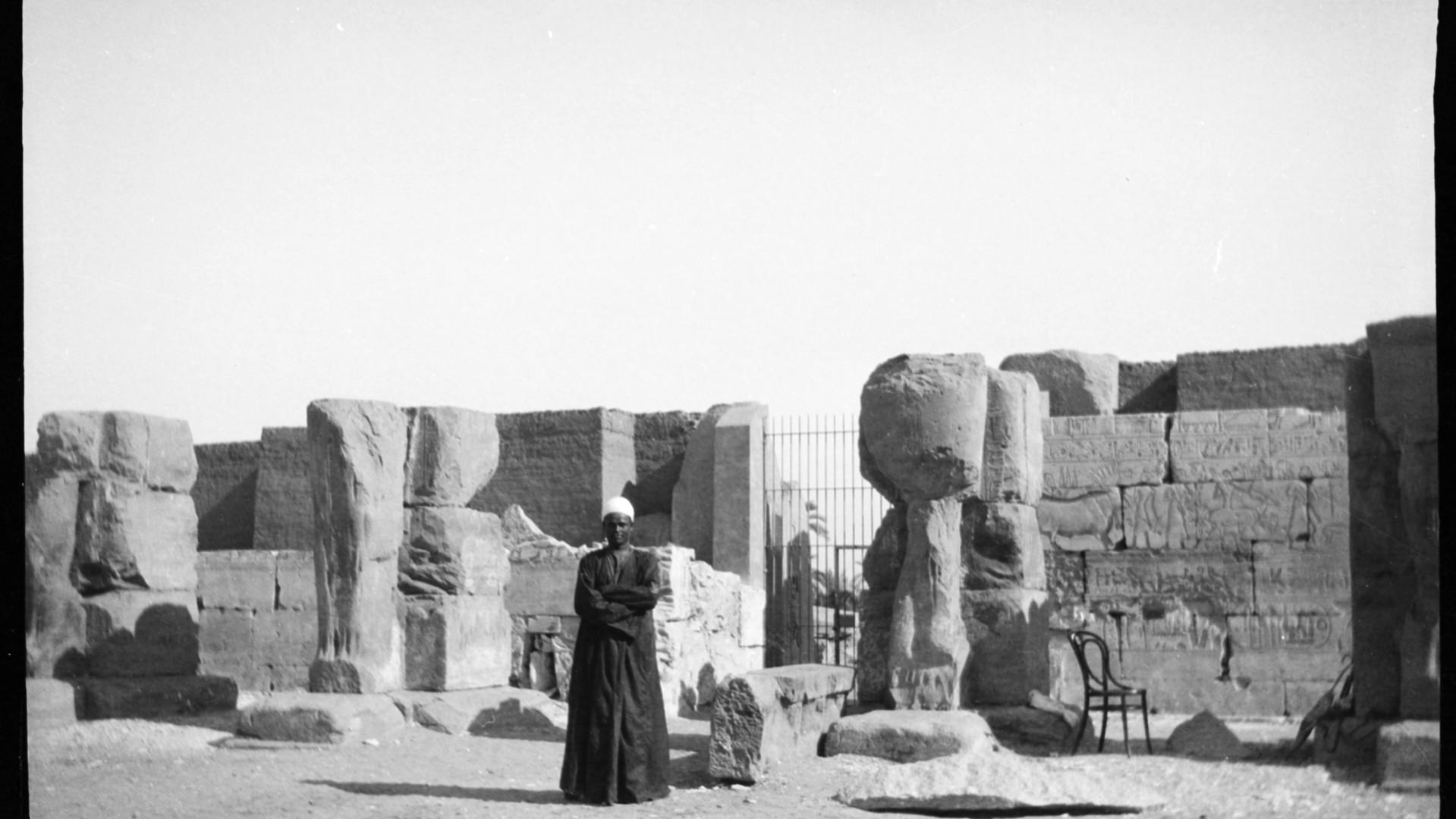 Marguerite Naville : temple de Ramsès II à Abydos (négatif) © Musée d'art et d'histoire de la Ville de Genève, inv. A 2006-0030-055-033