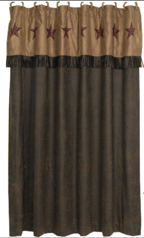 Rustic Star Western Shower Curtain
