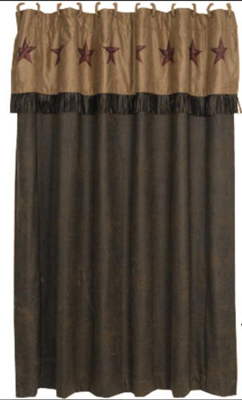 Rustic Star Western Shower Curtain