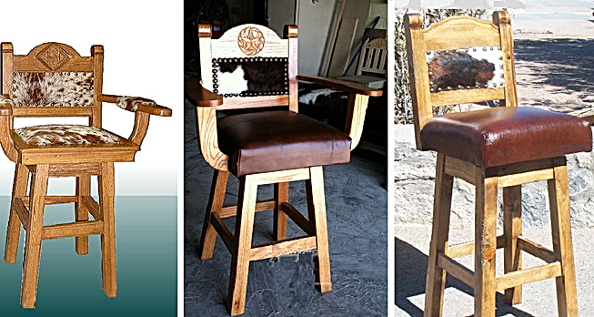 Cowhide | Leather Bar Stools And Texas Style Furniture