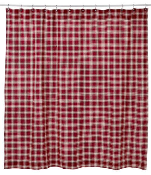 Breckenridge Red Plaid Shower Curtain | Western Home Decor, Western ...