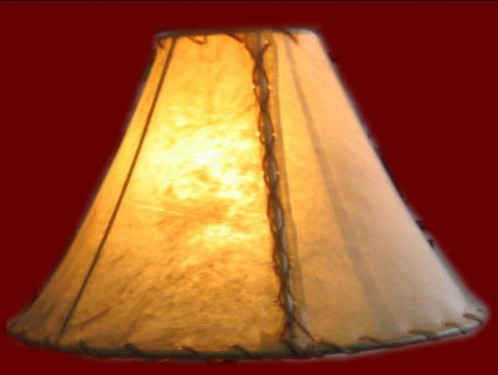 natural rawhide lamp shade in 3 sizes
