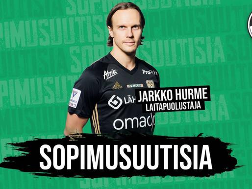 SOPIMUSUUTISIA: Kokenut laitapuolustaja Jarkko Hurme Kokkolaan!