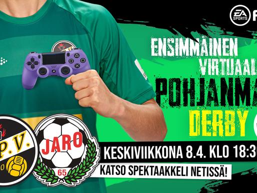 Historian ensimmäinen virtuaalinen Pohjanmaan Derby ke 8.4. klo 18:30