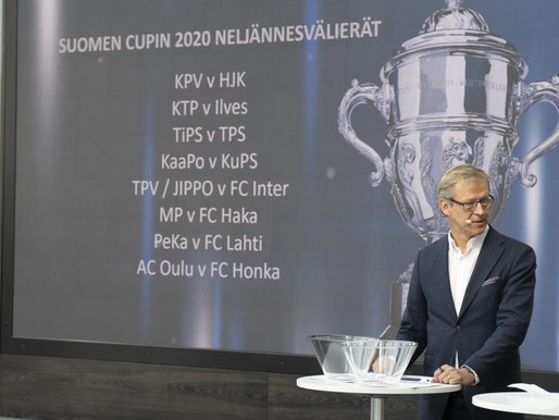 Miesten Suomen Cupin neljännesvälierät arvottu
