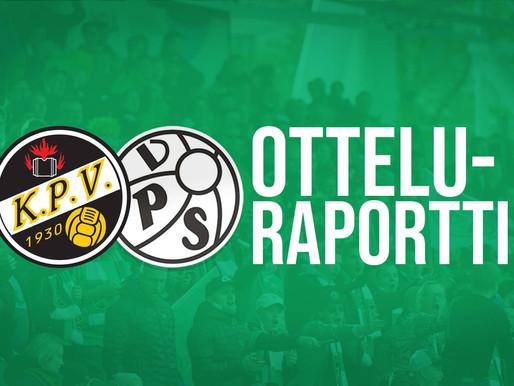 Otteluraportti (KPV-VPS La 1.2.): Vahva esitys ei riittänyt pisteisiin!