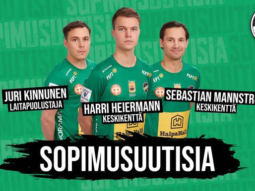 SOPIMUSUUTISIA: Heiermann, Mannström ja Kinnunen