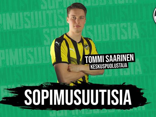 SOPIMUSUUTISIA: Vihreä vahvistuu Tommi Saarisella!