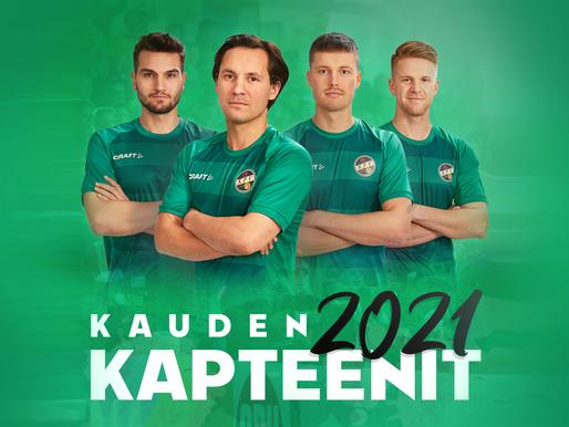KPV:n kapteenisto kaudelle 2021!