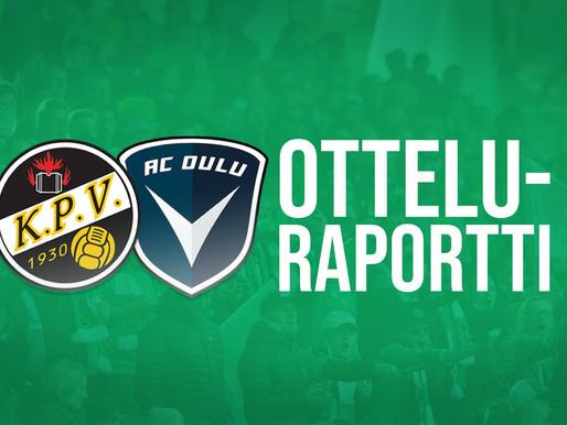 Otteluraportti KPV-AC Oulu 25.1.2020: Kipparihalli