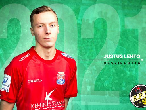 SOPIMUSUUTISIA: Justus Lehto KPV:n vahvuuteen!
