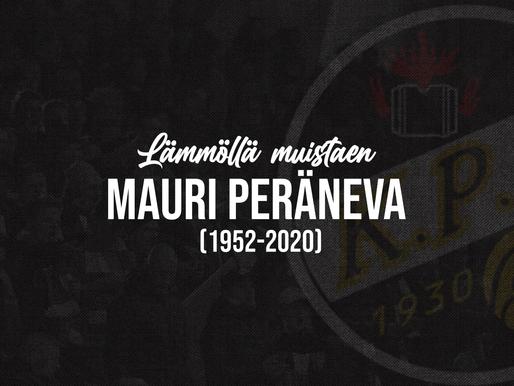 """Lepää rauhassa Mauri """"Maukka"""" Peräneva (1952-2020)"""