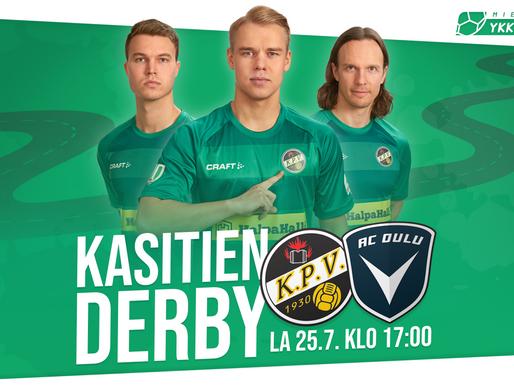 Kasitien Derby: KPV-AC Oulu - Liput myynnissä sunnuntaina!