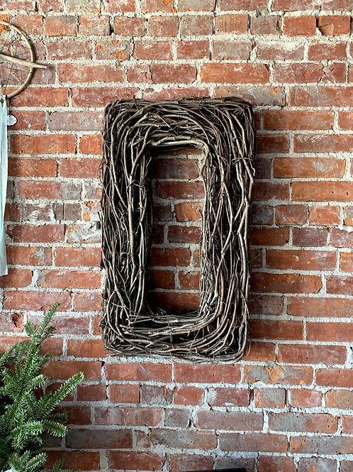 Large Square Wooden Wreath