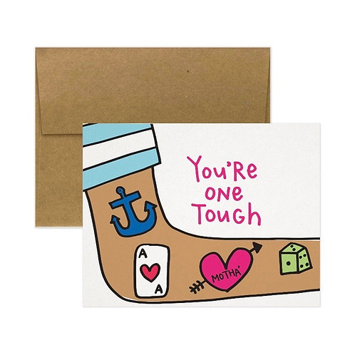 """Tiny Gang Designs - Mother's Day Card """"You're one Tough Motha"""""""