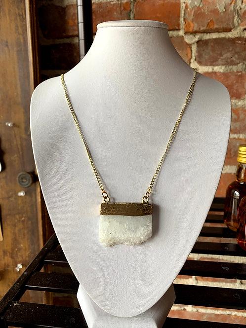 That Crafty B - White Quartz Necklace