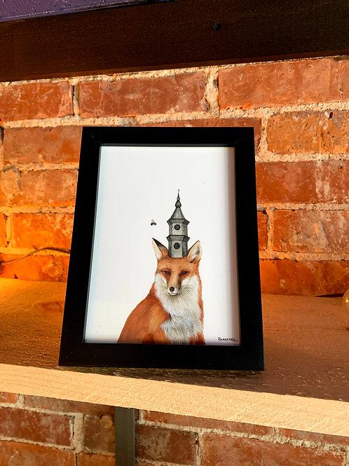 "Jess Polanshek 5x7 ""Fox and the Tower"""