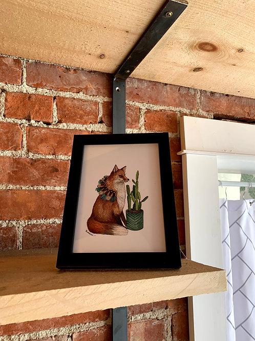 "Jess Polanshek 5x7 ""Critters: The Fox"""