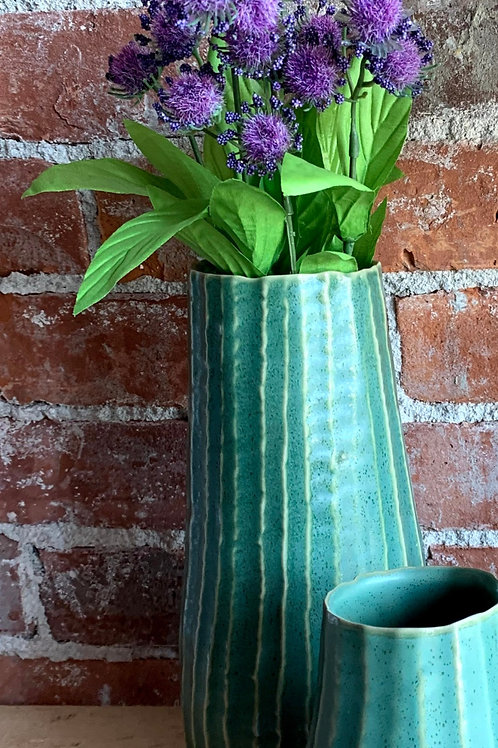 Large Green Ceramic Vase