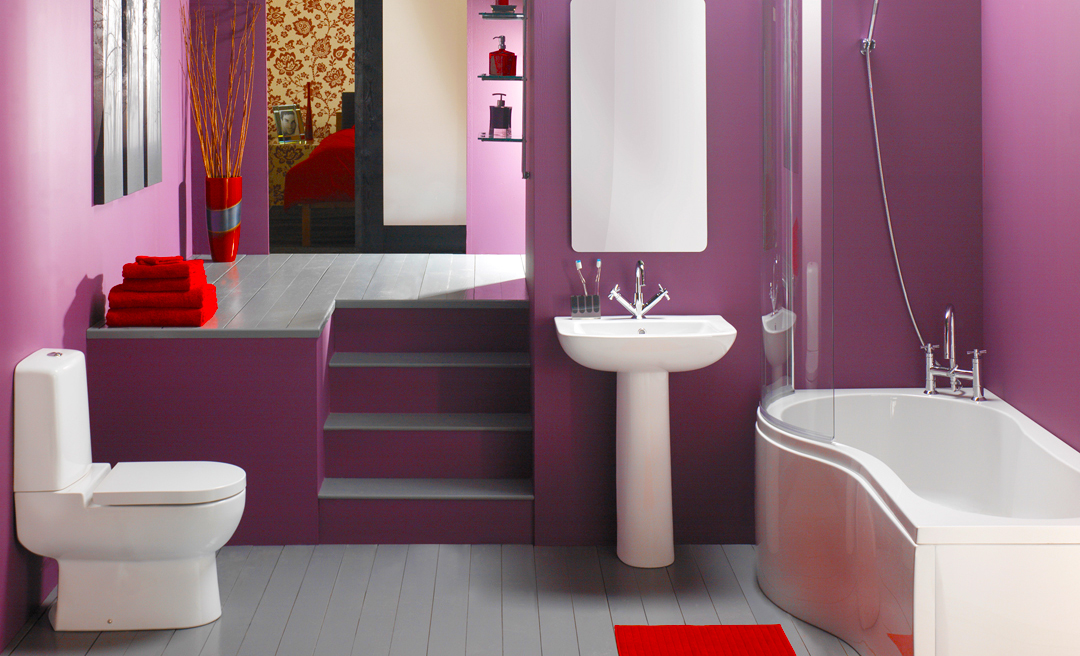 trendy-casual-purple-bathroom